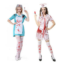 c86cc8d9d91a1 Scary Bloody Zombie Nurse Costume Halloween Masquerade Woman Dress Fancy  Dress