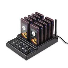 10 Restaurant Coaster Pager Guest Call Wireless Paging Queuing Calling System