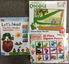 Roald Dahl Crocodile Jigsaw Puzzle ~The Hungry Caterpillar Game ~Dinosaur Puzzle