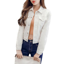 Women Fashion Jeans Jacket 2018 Spring Summer Long Sleeve Stretch Short Denim Ja