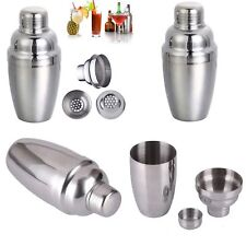 Stainless Steel Cocktail Shaker Bartender Party Wine Drink Mixer Tool Bar Kit