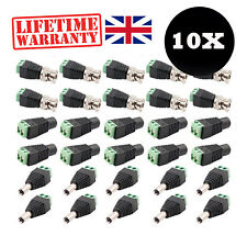 10 X RCA PHONO CAT5e UTP BALUN BNC VIDEO, AUDIO AND POWER CONNECTORS FOR CCTV