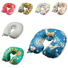 Inflatable Neck Pillow Soft Velet Airplane Travel Pillow Head Neck Support
