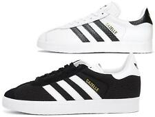 Adidas Gazelle Womens Originals Leather Trainers Casual Comfort White Black