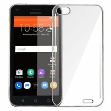 For Infocus A1 Back Cover Transparent Soft Silicon Case / Tempered Glass
