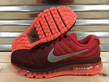 Nike Air Max 2017 Running Shoes Night Maroon Red White Silver SZ ( 849559-601 )
