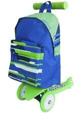 Children's Tri Wheeled Scooter Ride On With Rucksack (Green)