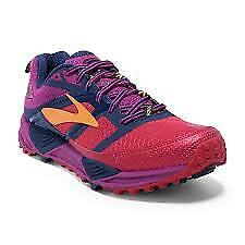 Brooks Cascadia 12 Womens Trail Running Shoes, Red/Peacoat/BatonRouge