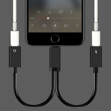 2 in1 Dual Lightning Auricular Jack Audio Cable Cargador Adaptador para iPhone 7
