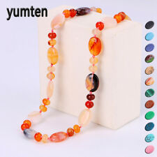 Yumten Star Vintage Women Necklace Set Crystal Power Natural Stone Chain Charm G