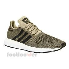 Adidas Swift Run CQ2117 Mens Shoes Gold Black Running Casual Sneakers Trainers