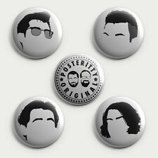 ARCTIC MONKEYS  -Button Badge Pack (5 Badges) Posteritty Minimalist Music Badges