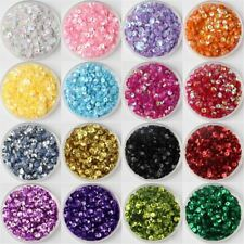 6000pcs/Pack Size 4mm Round Cup loose sequins Paillettes sewing Wedding craft, W
