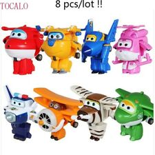 Super Wings Mini Airplane ABS Robot Super Wing Transformation Jet Animation 8pcs