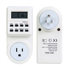 7 Day Digital LCD Electronic Plug-in Programmable 24 Hour Timer Switch Socket H1