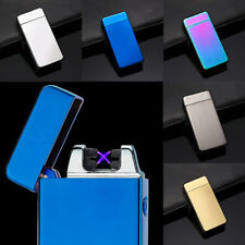 Electric Lighter Dual Arc Cigarette Rechargeable Windproof Flameless USB BJ84