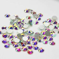 Non Hot Fix Rhinestones Crystal AB Glass Stones Machine Cut Flatback Strass For
