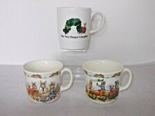 BUNNYKINS MUGS CHRISTENING AND BUNNY TOWN OR PORTMEIRION VERY HUNGRY CATERPILLAR