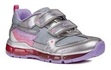 Geox J Android B Girls DK Silver/Lilac Light Up Trainers - 100% Positive Reviews