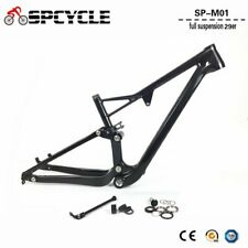 29er Carbon Full Suspension Frame T1000 Carbon MTB Mountain Bike Frames 165*38mm