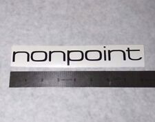 NONPOINT Vinyl DECAL STICKER BLK/WHT/RED Heavy Metal BAND Logo Window Guitar