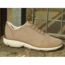 Scarpe Geox Nebula D621EC C6738 Sneakers Casual Moda Donna Taupe Slip On Fashion
