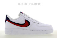 Nike Air Force 1 Low White University Red White Men's Trainers All Sizes