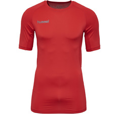 Hummel First Perfection SS Jersey Chemise Fonctionnelle Compression Shirt rouge