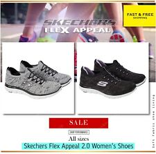 SKECHERS Flex Appeal 2.0 Women's Shoes  WALKING Comfort Travel Gum Running NEW!!