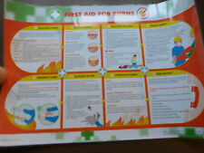 *First Aid Burns Poster by Wallace&Cameron-Quality Laminated Poster 85cmsx60cms