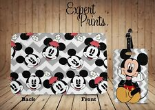 Minnie Mouse Mickey Disney Estampado Nuevo Funda de Pasaporte & Etiqueta