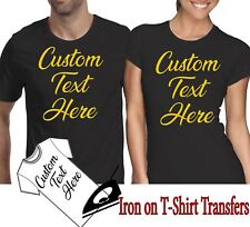 Custom Iron On T Shirt Party Transfer Any Text Your Name Personalised Hen Stag
