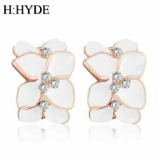 Beautiful design Wholesales Gold Color flower Austrian Crystal hoop earrings for