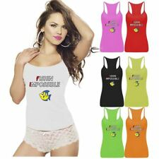 Womens Fishing Impossible Printed Vest Top Strappy RacerBack Sports Gym Wear
