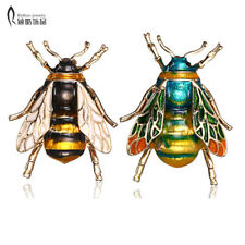 Insect Bumble Bee Brooch For Women Kids Girls Bee Jewelry Gifts Gold Color Yello