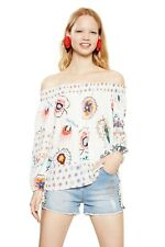 "Blusa T-Shirt Desigual  ""D Minor"" Art. 18SWBWBR/1011"