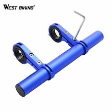 Cycling Double Bicycle Handlebar Expander Mount Lamp Bracket Road MTB Bikes