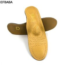 Efbaba Leather Insole Orthopedic Insoles Flat Foot Arch Arch Support X-O Type Fo