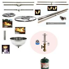 LP 1lb Tank DK Gas Fire Table/ Bowl Kit AND Lifetime Warr 316 Stainless Burner