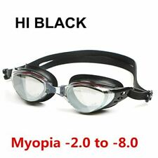 Swim Silicone Anti-fog Coated Water diopter Swimming Eyewear glasses mask Adult