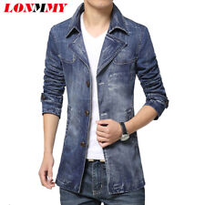 Lonmmy Mens Suit Jacket Blazer Mens Denim Blazer Slim Fit Casual 2018 Spring Plu