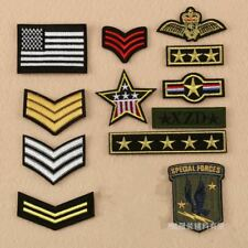 Embroidered Iron On Badges Army Shoulder vvv star Patches Embroidery