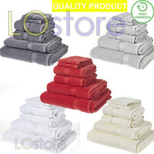 6 x New Pc Towels 100% Egyptian Cotton Bale Towel Set Hand + Face + Bath 500GSM