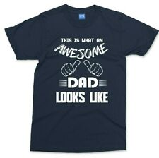 This What An Awesome Dad Looks Like T Shirt Funny Fathers Day Gift Present Mens