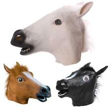 Horse Head Fancy Dress Latex Animal Mask Halloween Party Costume New