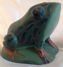 Simulated stone handpainted heavy Frog / Toad Paperweight Ornament / Figurine AF
