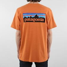 Patagonia Men's New P-6 Logo Responsibili-tee Short Sleeve T-shirt Orange