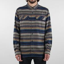 Patagonia Men's New Fjord Flannel Organic Cotton Long Sleeve Shirt Navy Blue