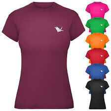 Ladies Origami Crane T-Shirt Womens Fitted Tee Top