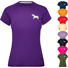 Ladies  Origami Horse T-Shirt Womens Fitted Tee Top